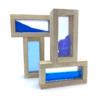 sensory block set blue rectangles