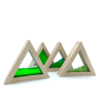 sensory block set green triangles