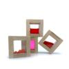 sensory block set red squares