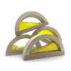 sensory block set yellow semi circles