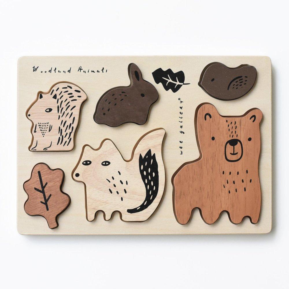 Woodland animal puzzle