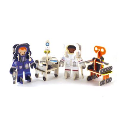 Astronaut and Robot figures