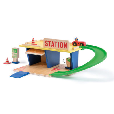 gas station toy garage