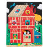 Home Sweet Home Wooden Peg Puzzle From Moulin Roty Fully Assembled