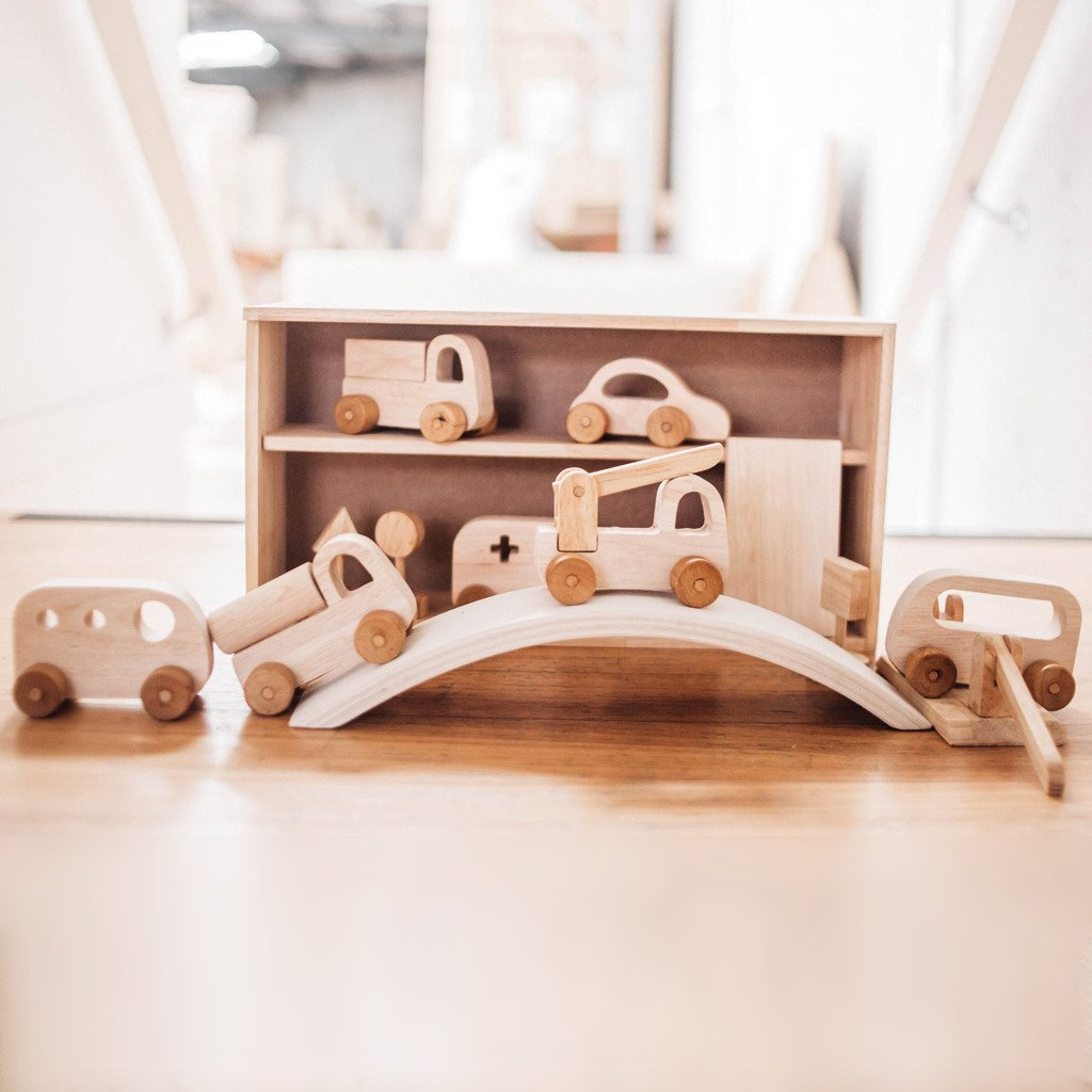 Wooden Vehicle Play Set