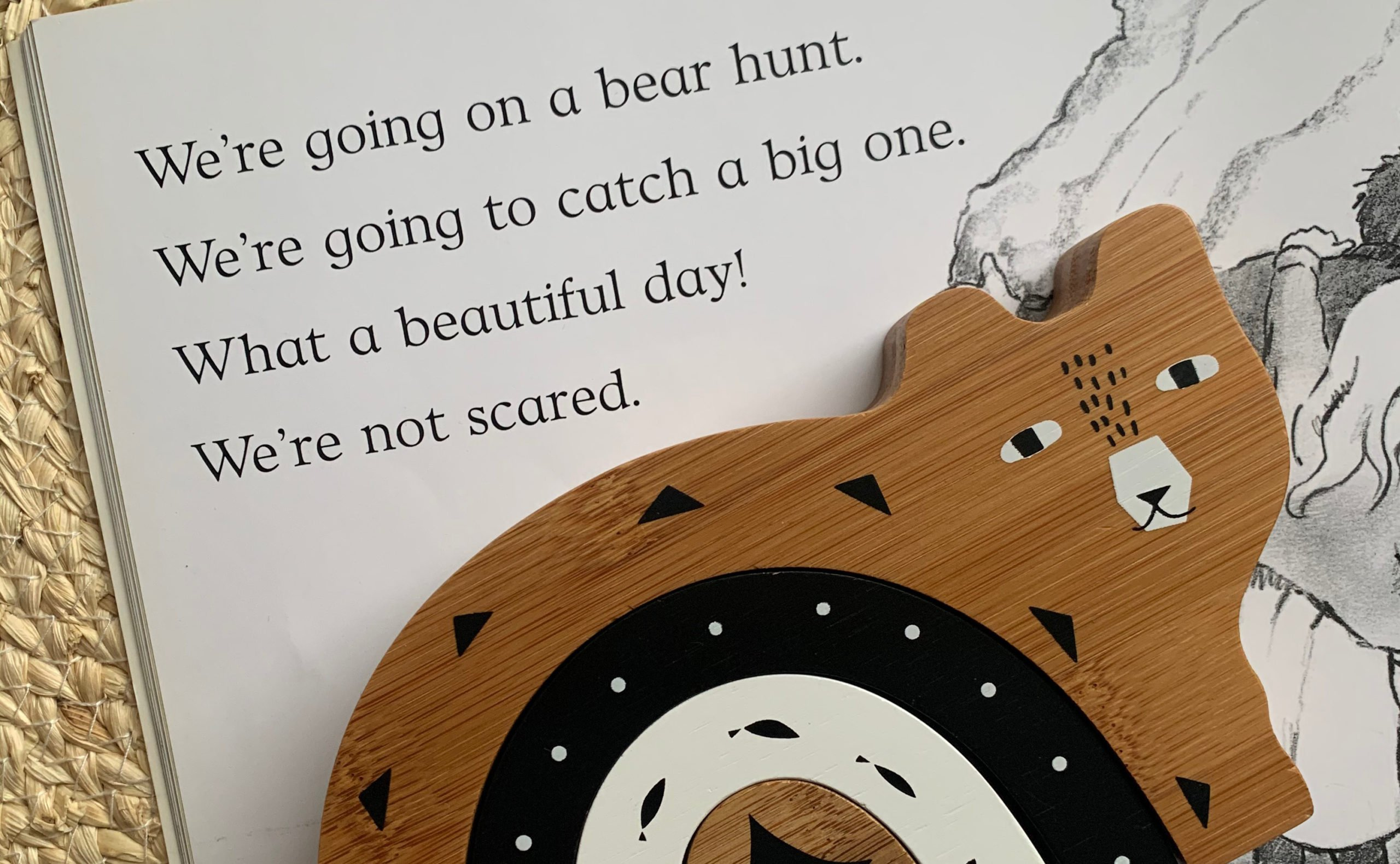 Bear Hunt with wooden bear