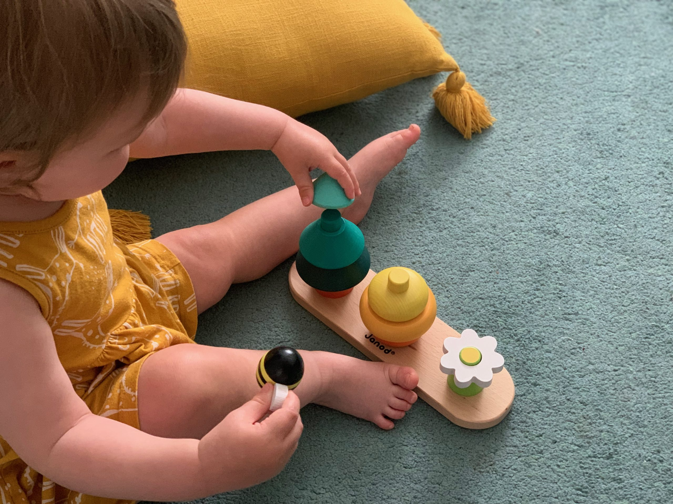 Child with Janod Forest Stacking Toy