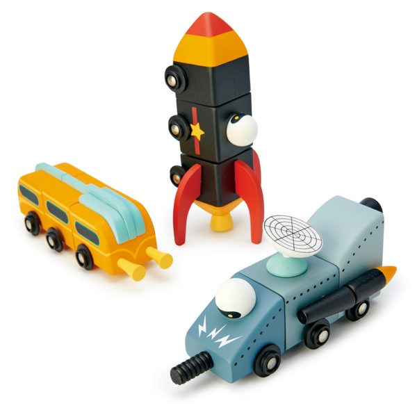 Space Race Set of Three Vehicles