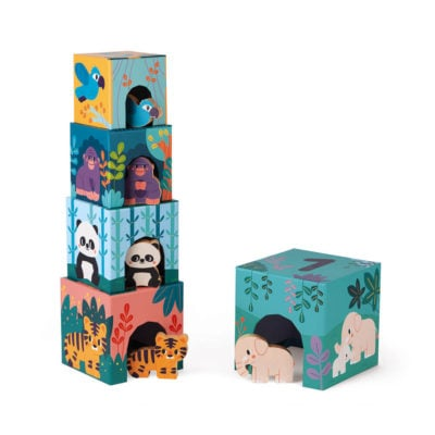 Jungle Stacking Blocks with Animals