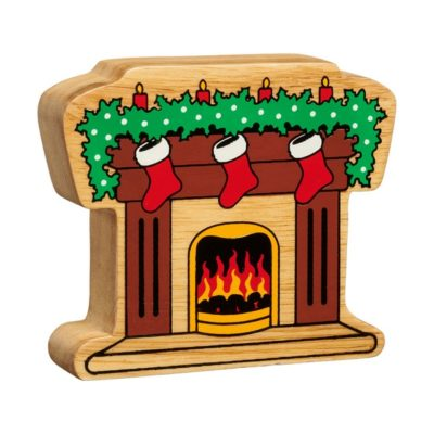 Wooden Christmas Fireplace