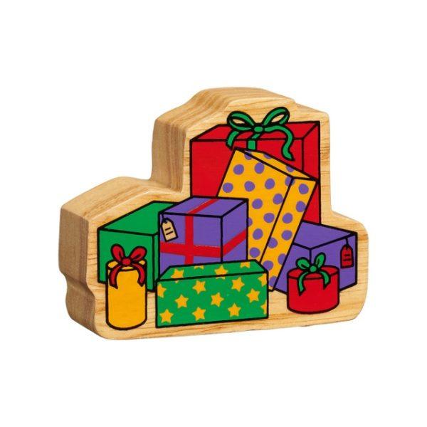 Wooden Stack of Presents Figure