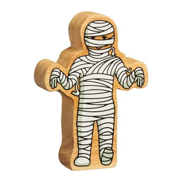 Wooden Mummy Figure