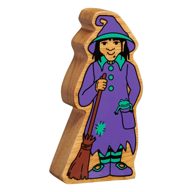 Wooden Witch Figure