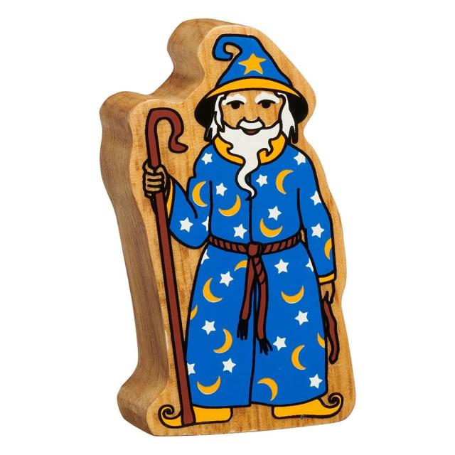 Wooden Wizard Figure