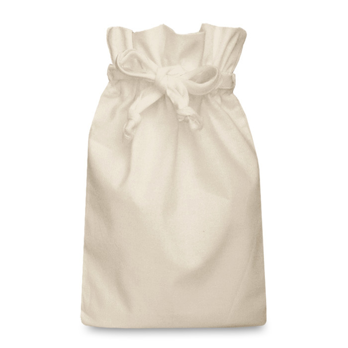 Natural Cotton Double Drawstring Bag Large