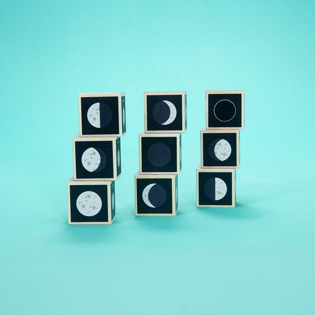 Wooden Moon Phase Blocks