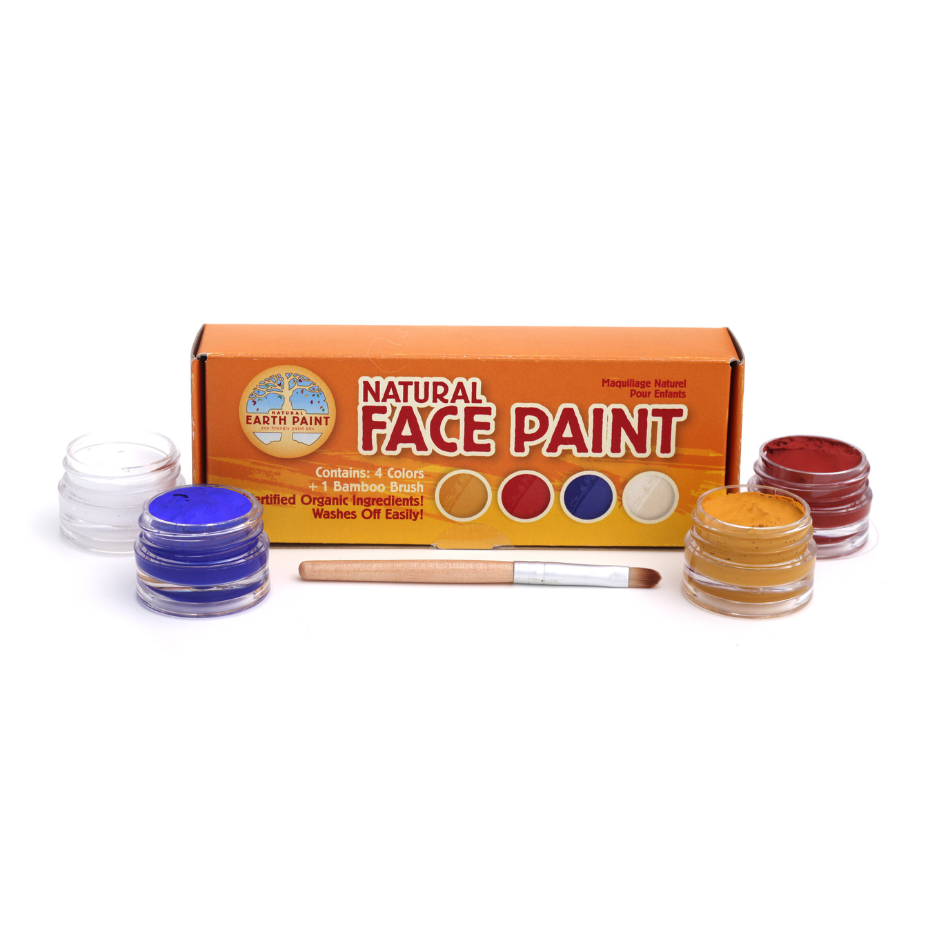 Natural Earth Face Paint set of 4