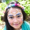 Natural Earth Paint Girl with face painted