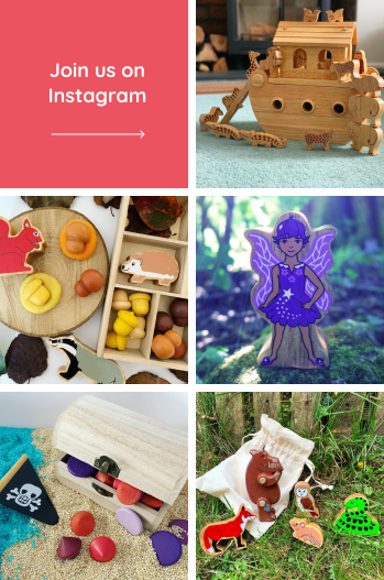Grid of images showing the Eco Toy Co Instagram feed
